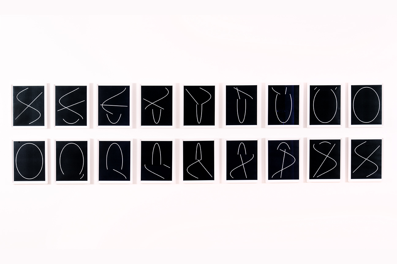 Anthony McCall                                         'Between You and I : Stills at two-minute intervals', 2006                                          14 x 11 Inches (each)                                         suite of 18 Xeroxographic carbon prints on paper