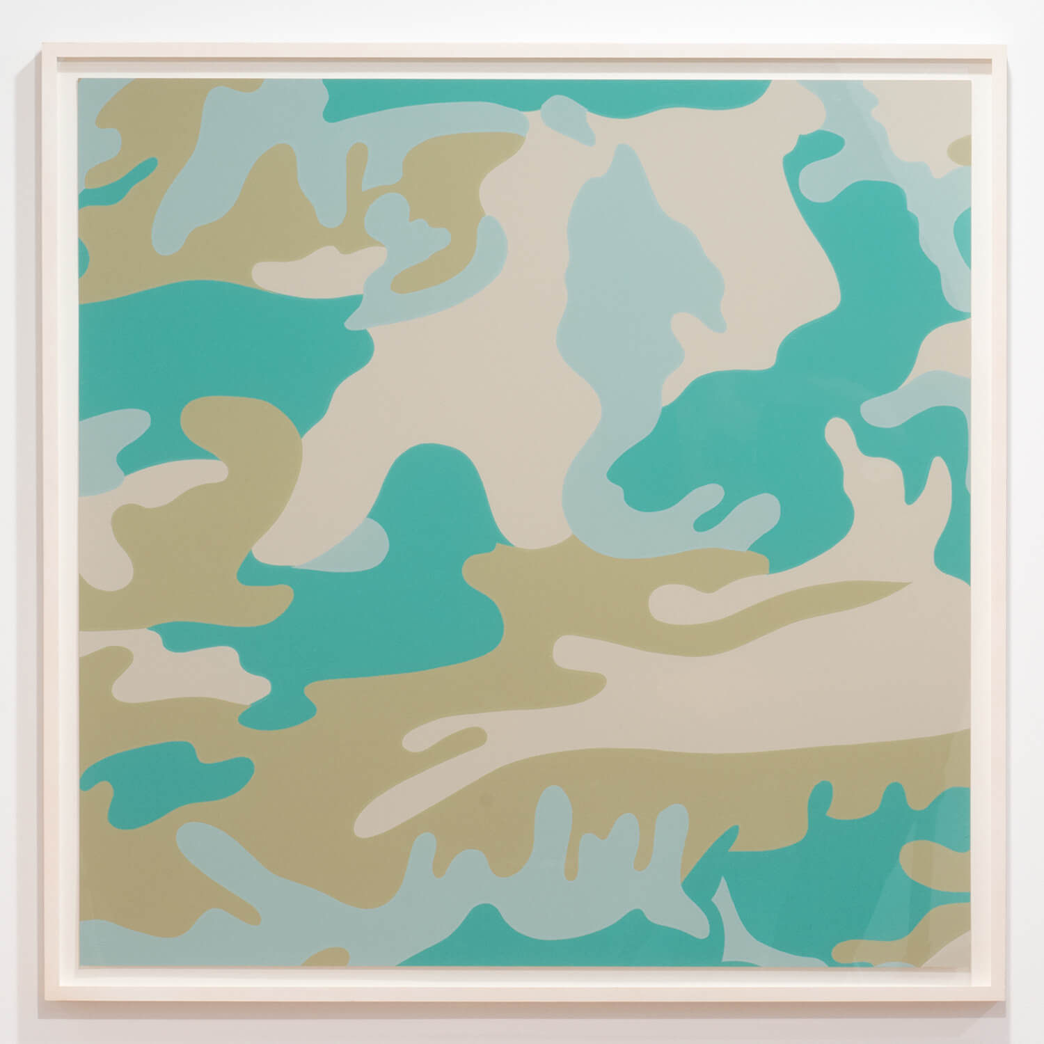 Andy Warhol                                         'Camouflage (Unique variant of II.407)', 1987                                         38 x 38 Inches                                         screen print on Lenox Museum Board                                         edition 75/80