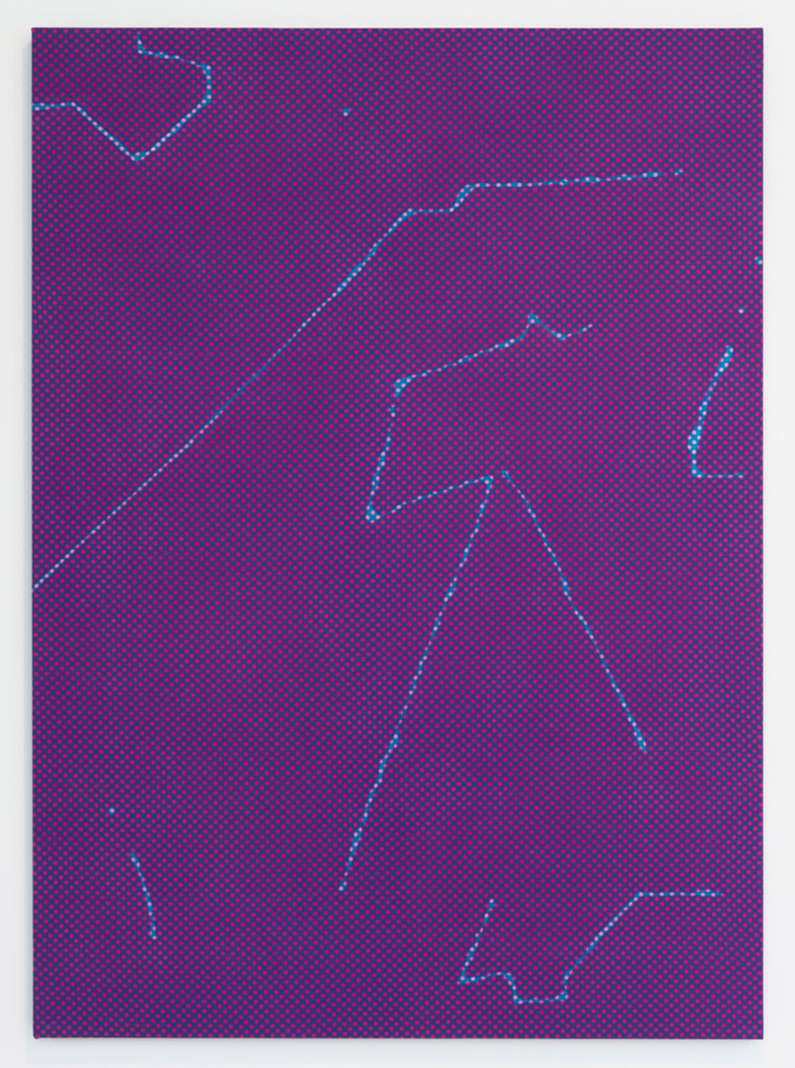 Cheryl Donegan                                         'Untitled (Dots, Purple - Blue)', 2015                                         50 x 36 Inches                                         dyed cotton