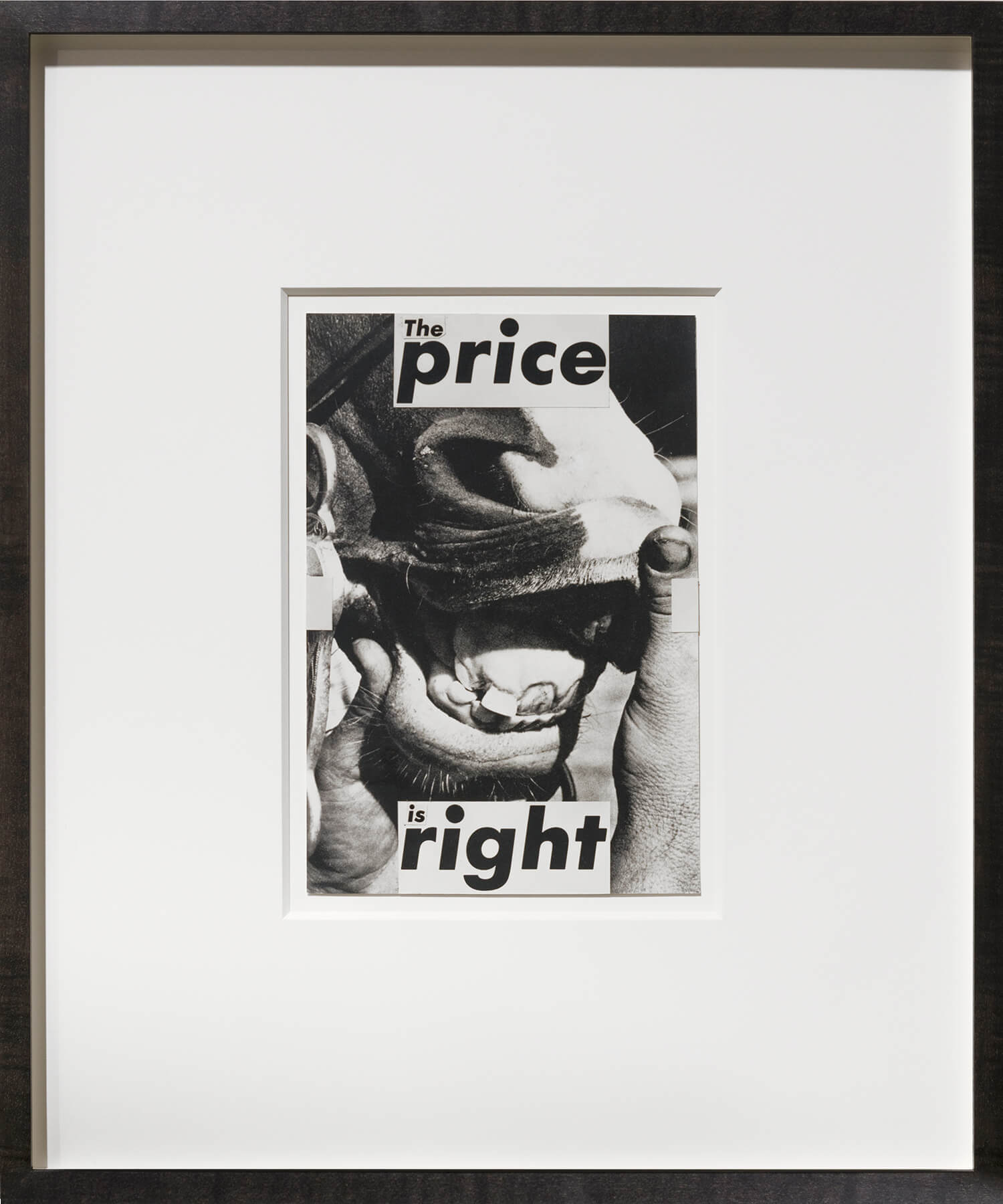 Barbara Kruger                                         'Untitled (The Price is Right)', 1987                                         8 1/2 x 5 3/4 Inches                                          mixed media, paper